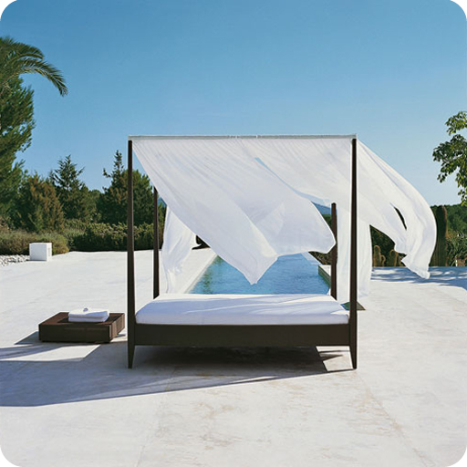 Mobiliario exterior, daybeds