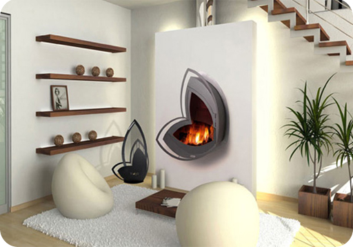 Decoración, chimeneas, interiorismo